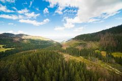 Wonderful view of the mountains Royalty Free Stock Photos