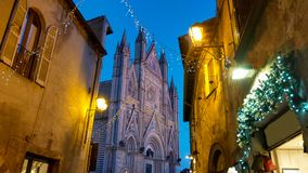 Wonderful View Of Orvieto Cathedral At Twilight In Umbria Royalty Free Stock Photo
