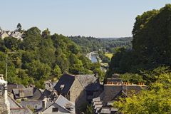 Wonderful view over Dinan and the surrounding area. Stock Photo