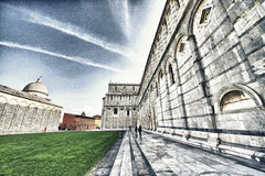 Wonderful view of Piazza dei Miracoli, Miracles Square in Pisa. Stock Images
