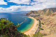 Wonderful view of Playa de las Teresitas beach, Tenerife Royalty Free Stock Images