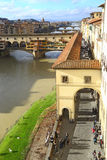 Wonderful view of Ponte Vecchio & river, Florence Royalty Free Stock Image