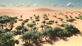 Wonderful view on Sahara desert at sundown 3d rendering. Wonderful view on Sahara desert at sundown Stock Photography