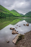 Wonderful view to foggy and green District Lake, United Kingdom Stock Image