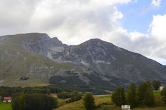 Wonderful view to mountains in the national park Durmitor. Monte Royalty Free Stock Photos