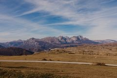Wonderful view to mountains in the national park Durmitor in Montenegro, Balkans. Europe. Beauty world. - Image.  stock image