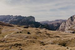 Wonderful view to mountains in the national park Durmitor in Montenegro, Balkans. Europe. Beauty world. - Image.  royalty free stock image
