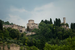 Wonderful view of the town of Asolo Royalty Free Stock Images
