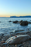 The wonderful views from the beach of Arribolas.  royalty free stock images