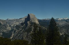 Wonderful Views Of The Half Dome From The Highest Part Of One Of The Mountains Of Yosemite National Park. Nature Travel Holidays. June 29, 2017. Yosemite royalty free stock photos