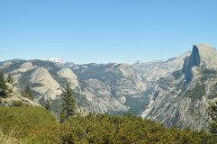 Wonderful Views Of Some Impressive Cascades From The Highest Part Of One Of The Mountains Of Yosemite National Park. Nature Travel. Holidays. June 29, 2017 Royalty Free Stock Photo
