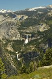 Wonderful Views Of Some Impressive Cascades From The Highest Part Of One Of The Mountains Of Yosemite National Park. Nature Travel. Holidays. June 29, 2017 Stock Image