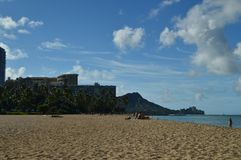 Wonderful Views of Waikiki Beach. royalty free stock photography