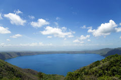 Wonderful volcanic crater lake Apoyo Royalty Free Stock Photography