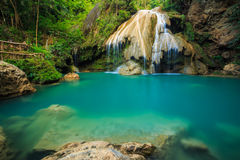 Wonderful waterfall with colorful tree in thailand Royalty Free Stock Images