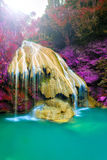 Wonderful waterfall with colorful tree in thailand. Photo wonderful waterfall with colorful tree in thailand royalty free stock photos