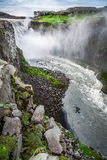 Wonderful waterfall Dettifoss, Iceland Stock Photos