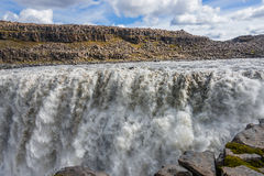 Wonderful waterfall Dettifoss in Iceland, summer time Royalty Free Stock Photography