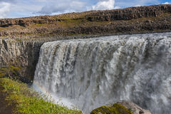 Wonderful waterfall Dettifoss in Iceland, summer time Stock Images