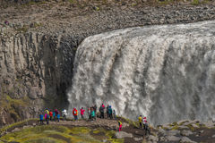 Wonderful waterfall in Iceland, summer time Royalty Free Stock Photography