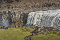 Wonderful waterfall in Iceland, summer time Stock Photography