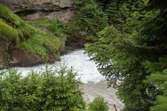 Wonderful waterfall in the forest. Wonderful waterfall in the rocky landscape stock photography