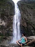 Wonderful waterfall in Serra da Canastra, Brazil Royalty Free Stock Photography
