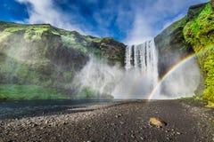 Wonderful waterfall Skogafoss, Iceland Stock Image