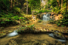 Wonderful waterfall in thailand, Pugang waterfall chiangrai Royalty Free Stock Photo