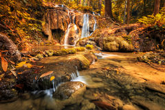 Wonderful waterfall in thailand, Pugang waterfall chiangrai Royalty Free Stock Photography