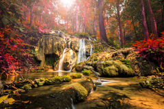 Wonderful waterfall in thailand, Pugang waterfall chiangrai Stock Images