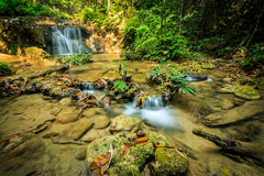 Wonderful waterfall in thailand, Pugang waterfall chiangrai Royalty Free Stock Images