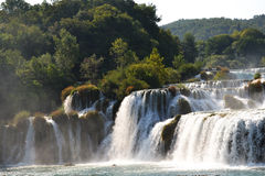 Wonderful Waterfalls of Krka Sibenik, Croatia Royalty Free Stock Images