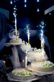 Wonderful wedding cake Royalty Free Stock Images