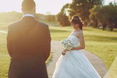 Wonderful wedding day Stock Photos