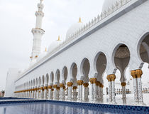 White Sheikh Zayed mosque at Abu-Dhabi, UAE Royalty Free Stock Photography