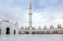 White Sheikh Zayed mosque at Abu-Dhabi, UAE Royalty Free Stock Image