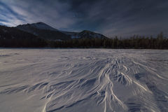 Wonderful winter landscape with mountains Royalty Free Stock Images