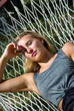 Wonderful woman in a hammock Royalty Free Stock Photo