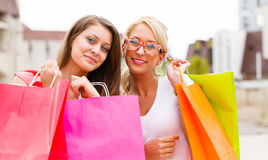 Wonderful Women Gone Shopping Stock Image