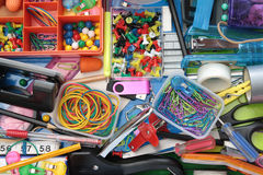 Wonderful World of the Stationery Drawer Royalty Free Stock Photos