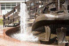 The Wonderful yudo Fish whale fountain in Tobolsk Stock Photo