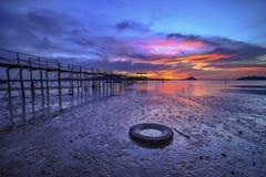 Wonderfull Индонезия захода солнца Moment12 Batam Bintan Стоковое Изображение RF
