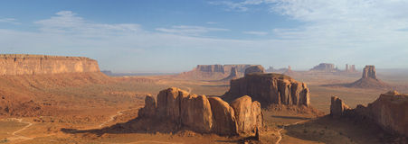Wonderfull Monument Valley aerial sky view Stock Photo