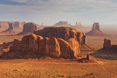 Wonderfull Monument Valley aerial sky view Stock Photos