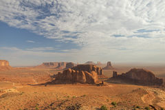 Wonderfull Monument Valley aerial sky view Stock Images