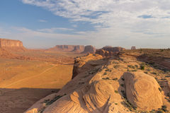Wonderfull Monument Valley aerial view Royalty Free Stock Photography