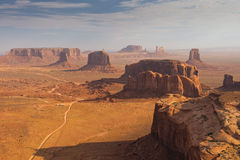 Wonderfull Monument Valley aerial view Stock Photo