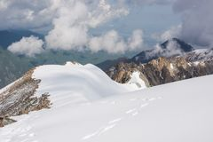 Wonderfull mountain ladscape. Snow, highland, peak Royalty Free Stock Images