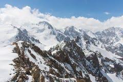 Wonderfull mountain ladscape. Snow, highland, peak Royalty Free Stock Image